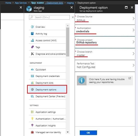 Azure SCM configuration
