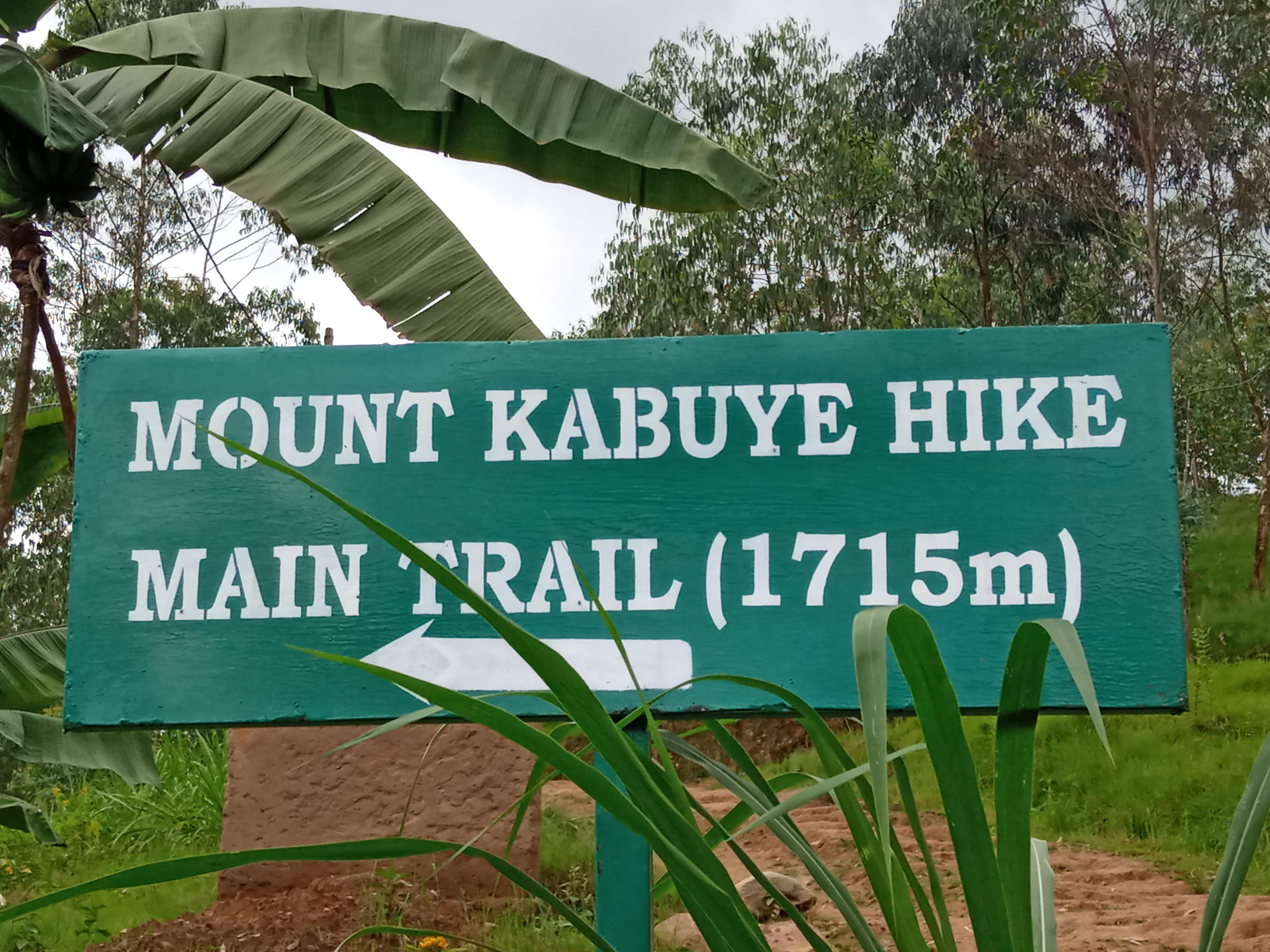 Mout Kabuye starting point main trail