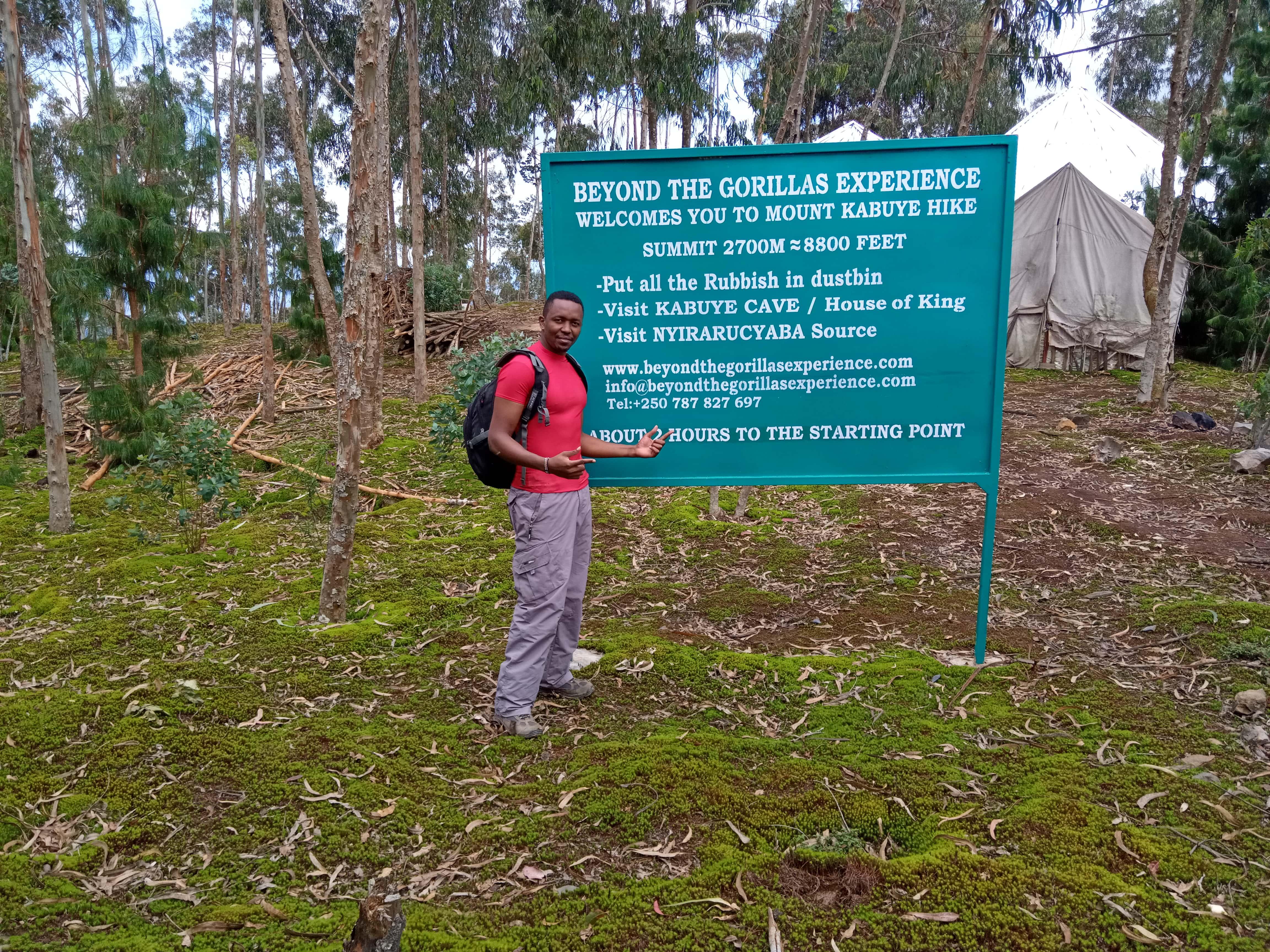 Mount kabuye Summit